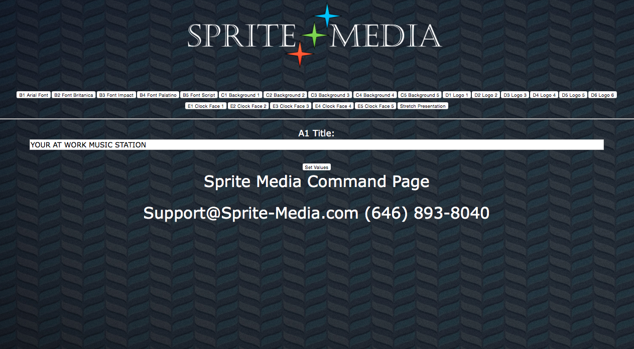 Sprite Stretch Clock Command Page