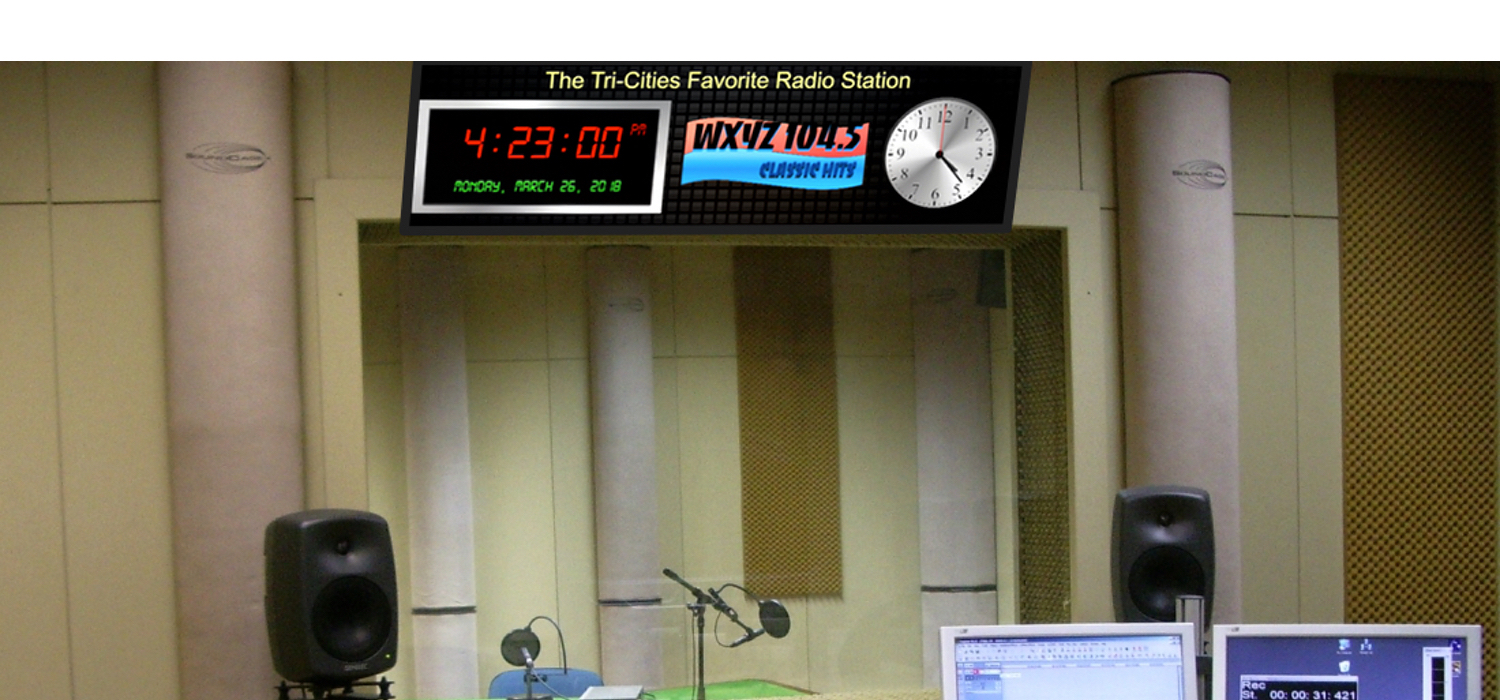 Broadcast Clock, Radio Clock, Studio Clock, Custom Clock